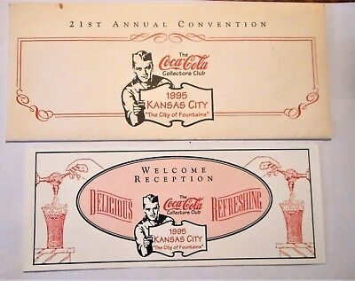 Vintage 1995 Coca Cola 21st Annual Convention Kansas City The City Of Fountains
