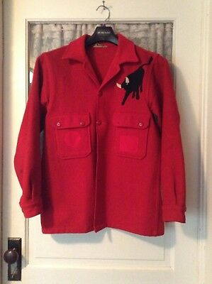 Vintage Boy Scouts of America Official Jacket: Philmont Red 100% Wool sz 42