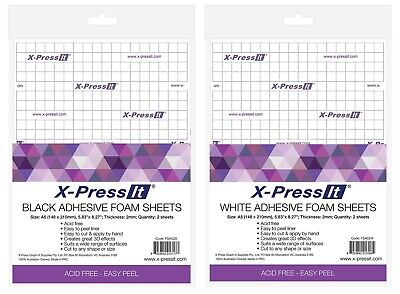 X-Press It Adhesive Foam Sheets - White or Black