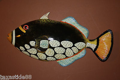 "(1)pc, SEAFOOD RESTAURANT DECOR, COLORFUL TROPICAL FISH WALL DECOR, 12"", F-78"