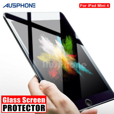 iPad Mini 4 3 2 1 Scratch Resist Clear Tempered Glass Screen Protector For Apple
