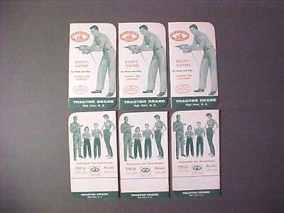 6 -1955 vintage Tractor Brand- High Point NC Work Clothes Advertising Notebooks