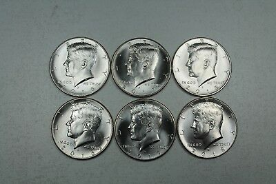 2016 2017 2018  P & D Uncirculated Kennedy Half Dollar Set from Mint Rolls