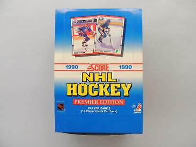 1990 SCORE NHL Hockey Premier Edition Box of 36 Sealed Packs Player Cards