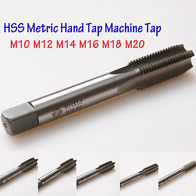 HSS Metric Right hand Thread Tap Set Machine Taper M10 12 16 18 20 Drill Bits