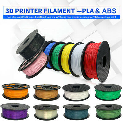 Premium 3D Printer Filament 2.2lb 1.75mm 3mm PLA ABS Non-toxic eco-friendly Lot