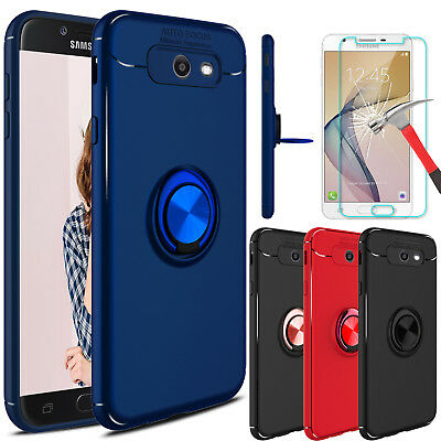 For Samsung Galaxy J7 Prime/Sky Pro/2017 Case With Ring Holder+Screen Protector