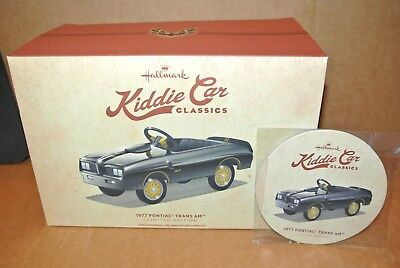 Hallmark 1977 Kiddie Car Classics PONTIAC TRANS AM Miniature Pedal Car NIB