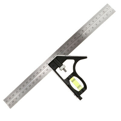 12 Inch Combination Square Heavy Duty Stainless Steel Sided Ruler