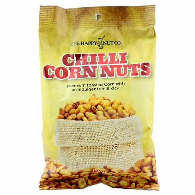 HAPPY NUT CO. CHILLI CORN NUTS BEER COMPANION PREMIUM CHILL TOASTED SNACK 150g