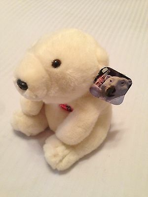 1996 Coca-Cola Polar Bear Plush toy w/ tags (white teddy bear, Coke brand)