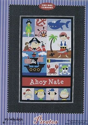 Pirates - fun pieced & applique quilt PATTERN - for boys or girls - Amy Bradley