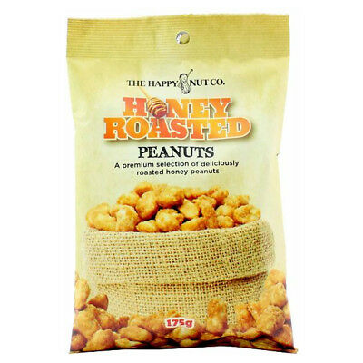 HAPPY NUT CO. HONEY ROASTED PEANUTS NUTS SNACK BEER COMPANION PEANUT 175g