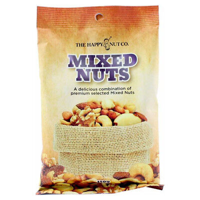 HAPPY NUT CO. MIXED NUTS PREMIUM NUT PEANUTS ALMONDS CASHEWS SNACK ASSORTED 150g