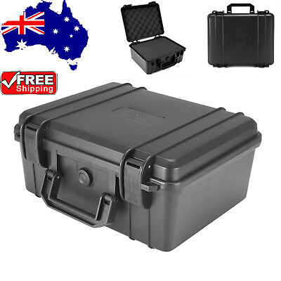 Waterproof Hard Plastic Carry Case Bag Tool Storage Box Portable Organizer M