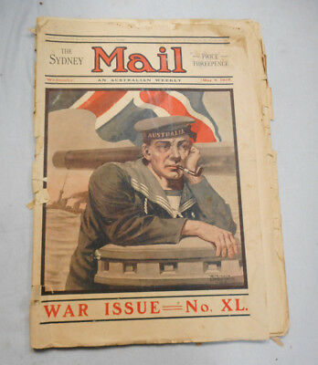 #T114.  Two 1915 Sydney Mail Newspapers - War Issues