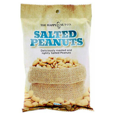 HAPPY NUT CO. SALTED PEANUTS FLAVOURED PREMIUM ROASTED NUTS SNACK APPETIZER 225g