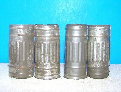 lot 4 radio vacuum tubes heat shield covers 9 pin 6201 12AX7A 5751 5687 12AT7