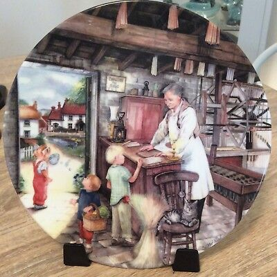 Royal Doulton Plate Old Country Crafts The Candle Maker Limited Edition