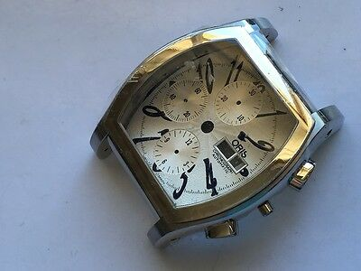 oris herren chrono 7750 case stahl for parts or repair