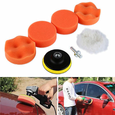3″Gross Polishing Buffing Sponge Pads Kit Set With Drill Adapter For Car Polish
