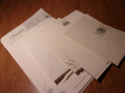 Vintage Hotel Stationary Maine New Hampshire Waumbeck Old Fort Inn Ben Mere