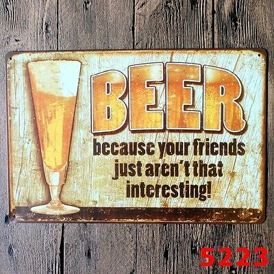 Metal Tin Sign beer  Bar Pub Home Vintage Retro Poster Cafe ART