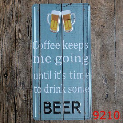 Metal Tin Sign coffee take me going to drink beer Bar Pub Vintage Retro Poste