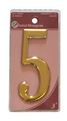 3 inch Gold Effect Numeral 5