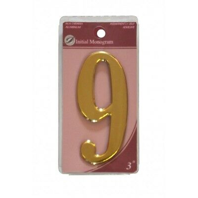 3 inch House Number 9 Gold Effect Numeral 9