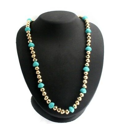 "QVC Francesca Visconti's Necklace Gold Tone Baroque Bead 24"" Sold Out $127.98"