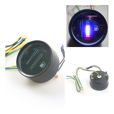 "2 "" 52mm Fuel Meter LED Digital DC12V Fuel Gauge For Car Motorcycle"
