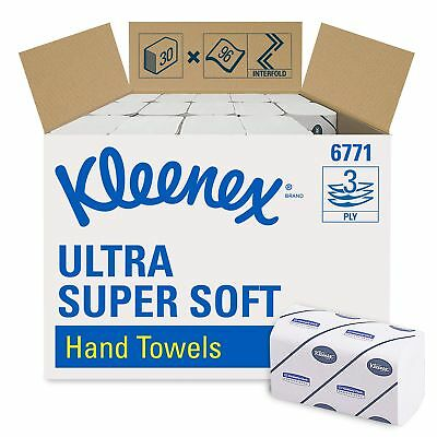 KLEENEX* ULTRA SUPER SOFT Interfolded Hand Towels 6771 - 30 packs x 96 white,...