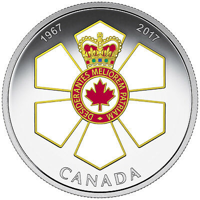 1 Oz Silber Proof Canadian Honours : 50th Anni of the order of Canada 2017