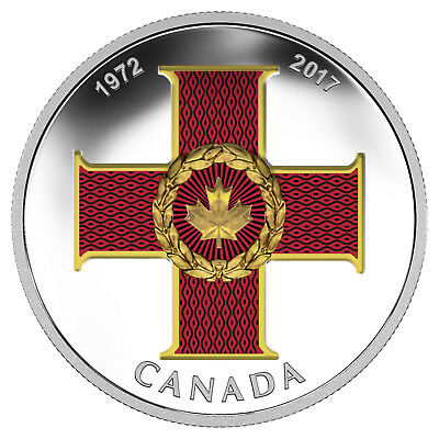 1 Oz Silver Proof Canadian Honours: 45th Anni of the Cross of Valour Kanada 2017