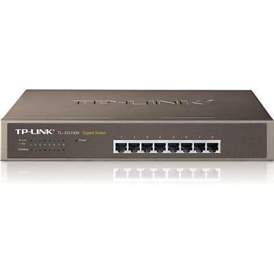 TP-Link TL-SG1008 Netzwerk Switch 1000 Mbps 8x Gigabit LAN Ports mountable
