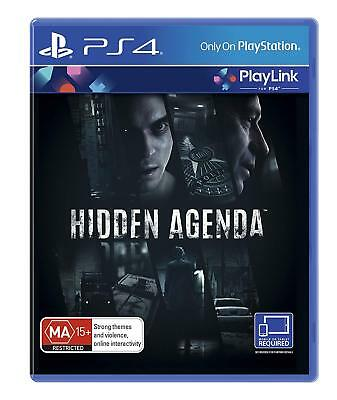 Hidden Agenda Sony PS4 PlayLink Game BRAND NEW & SEALED