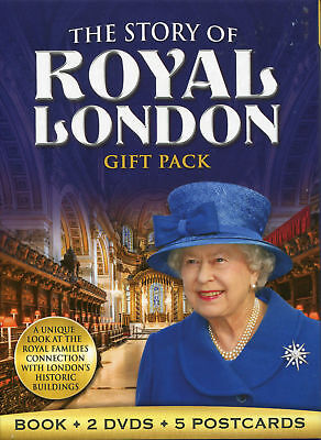 THE STORY OF ROYAL LONDON GIFT PACK  BOOK 2 DVD 5 POSTCARDS Present Idea Queen