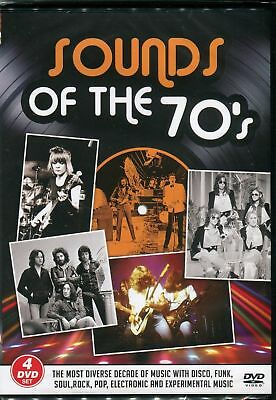 SOUNDS OF THE 70s Four DVD Set - STATUS QUO T.REX 10CC DAVID CASSIDY 1970s Gift