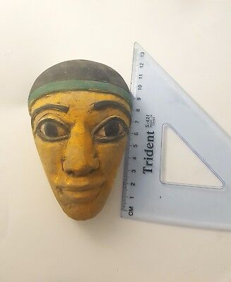Ancient Egyptian Painted Polychrome Stone Mask - Ancient Art & Antiquities