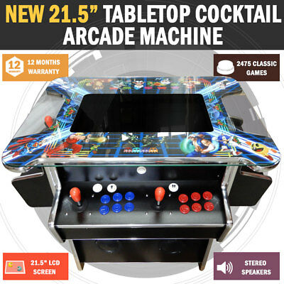 """NEW 21.5"""" Tabletop Cocktail Arcade Machine LCD Display With 2475 Games Pacman"""