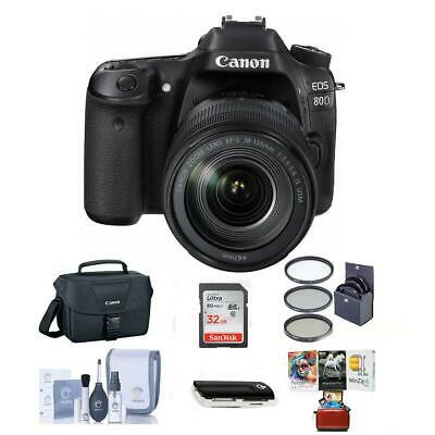 Canon EOS 80D DSLR with 18-135mm USM Lens and Free Mac Accessory Bundle