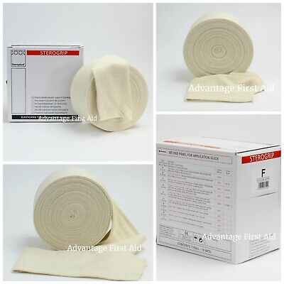Elasticated Tubular Support & Compression Bandage. White / Cream Sterogrip.