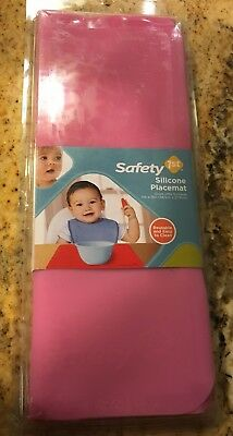 NEW! Safety 1st Silicone Grip Placemat for Baby or Child, Dishwasher-Safe! PINK
