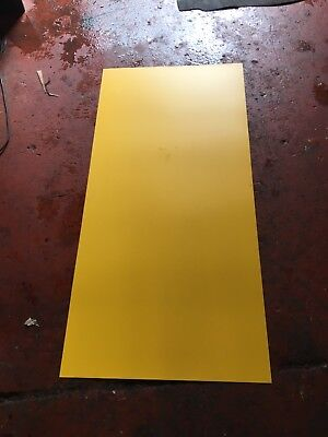 YELLOW PLASTIC SHEETS 5 SHEETS  4ft 6 X 2ft 2