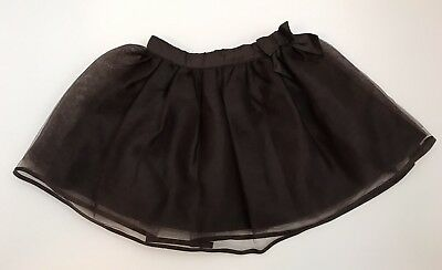 Baby Girl's Janie and Jack Size 12-18 Mths Brown Tulle Skirt Bow Dressy Layered
