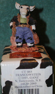 Halloween Cowtown FRANCOWSTEIN by Ganz Cow Figure old store stock CT 068