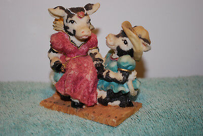 Cowtown Lovers ROMECOW & MOOLIET by Ganz cow figure old store stock CT 037