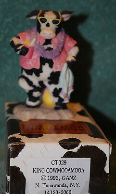Cowtown Royal KING COWMOOAMOOA by Ganz cow figure old store stock CT 029