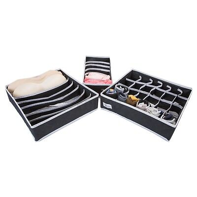 Periea 3 Pack Storage Drawer Organiser Storage Solution Tidy Socks Bra Ties
